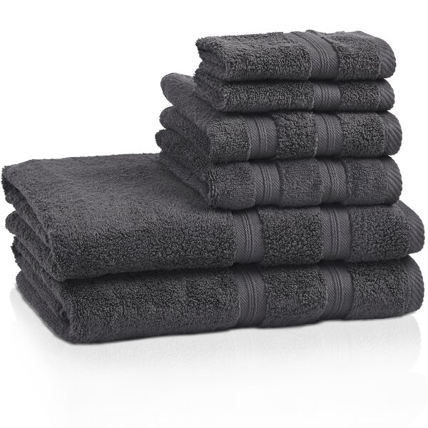 Smart 6 Piece 100% Cotton Towel Set by The Twillery Co.